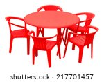 plastic table and chairs... | Shutterstock . vector #217701457