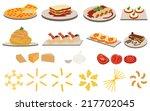 set of italian cuisine menu | Shutterstock .eps vector #217702045