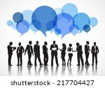 silhouettes of business people... | Shutterstock .eps vector #217704427