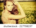 Beautiful Girl Standing In A...