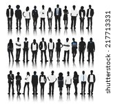 silhouette group of people... | Shutterstock .eps vector #217713331