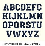 slab serif font in the retro... | Shutterstock .eps vector #217719859