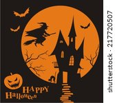 halloween night background with ... | Shutterstock .eps vector #217720507