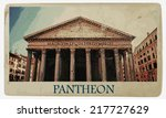 pantheon in rome. one of the...