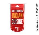 authentic indian cuisine banner ...   Shutterstock .eps vector #217745527