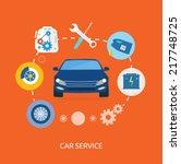 auto mechanic service flat...   Shutterstock .eps vector #217748725