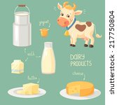 dairy products | Shutterstock .eps vector #217750804
