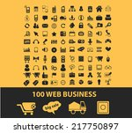 100 web business  ecommerce... | Shutterstock .eps vector #217750897