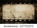 grunge film strip background | Shutterstock . vector #217751374