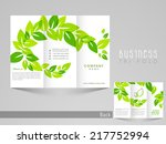 professional business three... | Shutterstock .eps vector #217752994