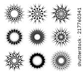 abstract circular tattoos | Shutterstock .eps vector #217760341