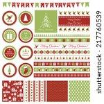 set of design elements for... | Shutterstock .eps vector #217760539