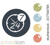 character 24 7 sign. | Shutterstock .eps vector #217760785