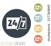 character 24 7 sign. | Shutterstock .eps vector #217760845