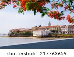 tourist attractions and... | Shutterstock . vector #217763659
