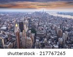 aereal view of manhattan at... | Shutterstock . vector #217767265