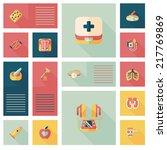 medical flat ui background eps10