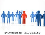 concept of teamwork  people and ... | Shutterstock . vector #217783159