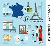 paris france flat icons design... | Shutterstock .eps vector #217783345