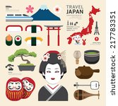 japan flat icons design travel... | Shutterstock .eps vector #217783351