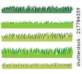 backgrounds of green grass ... | Shutterstock .eps vector #217784359