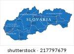 slovakia map | Shutterstock .eps vector #217797679