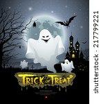 happy halloween ghost and...   Shutterstock .eps vector #217799221