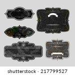set of vintage labels   Shutterstock . vector #217799527