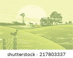 organic farming  vector | Shutterstock .eps vector #217803337
