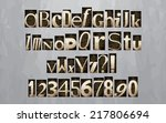 vintage letterpress printing...