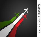vector illustration of a plane... | Shutterstock .eps vector #217808974