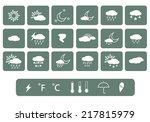 weather icon. vector | Shutterstock .eps vector #217815979