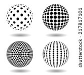 set of dotted spheres | Shutterstock .eps vector #217817101