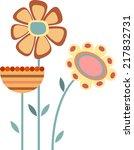 flower vector   Shutterstock .eps vector #217832731