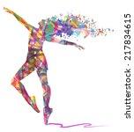 Abstract Dancing Girl And...