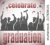 graduation celebration in... | Shutterstock .eps vector #217838131