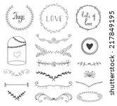 hand drawn graphic flower set... | Shutterstock .eps vector #217849195
