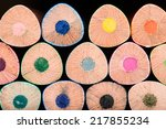 macro background of the pencil... | Shutterstock . vector #217855234