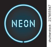 Neon Circle With Neon Sign