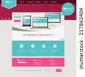 website template for smart... | Shutterstock .eps vector #217862404