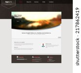 awebsite template with blurred...