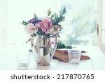summer bouquet of purple and... | Shutterstock . vector #217870765