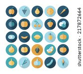 flat design icons for fruits...