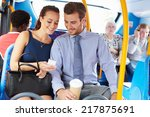 businessman and woman looking... | Shutterstock . vector #217875691