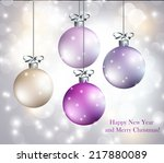 christmas abstract background | Shutterstock .eps vector #217880089