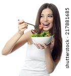 portrait of attractive ... | Shutterstock . vector #217881685