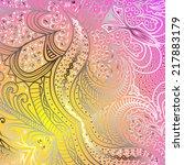 rectangular colorful ornament...   Shutterstock .eps vector #217883179