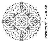 mandala. round ornament pattern....   Shutterstock .eps vector #217888585