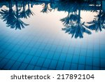 Reflections Of Palm Trees In...