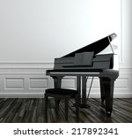 View Of An Open Grand Piano...